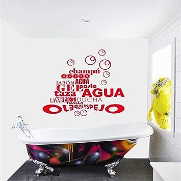 Wandtattoo Wohnzimmer Spanisch Franzosisch Zitat Blasen Badezimmer