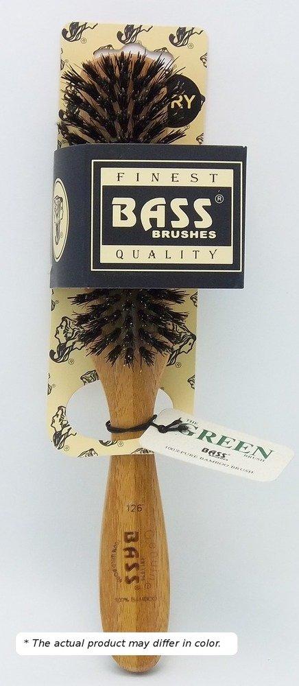 Brush - Semi Oval Seven Row Design 100% Wild Boar Bristles Light Wood Handle Bass Brushes 1 Brush