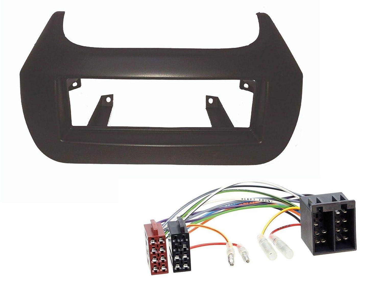 FIAT Fiorino//Qubo Peugeot Bipper//Tepee Radioeinbauset f/ür DIN Autoradio in Citroen Nemo