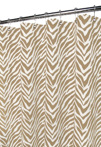 Park B. Smith Zebra Zebra Shower Curtain, White/Taupe (Curtain Smith Shower Watershed)