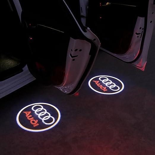 dagongji Faro LED para puerta de coche, proyector de entrada de ...