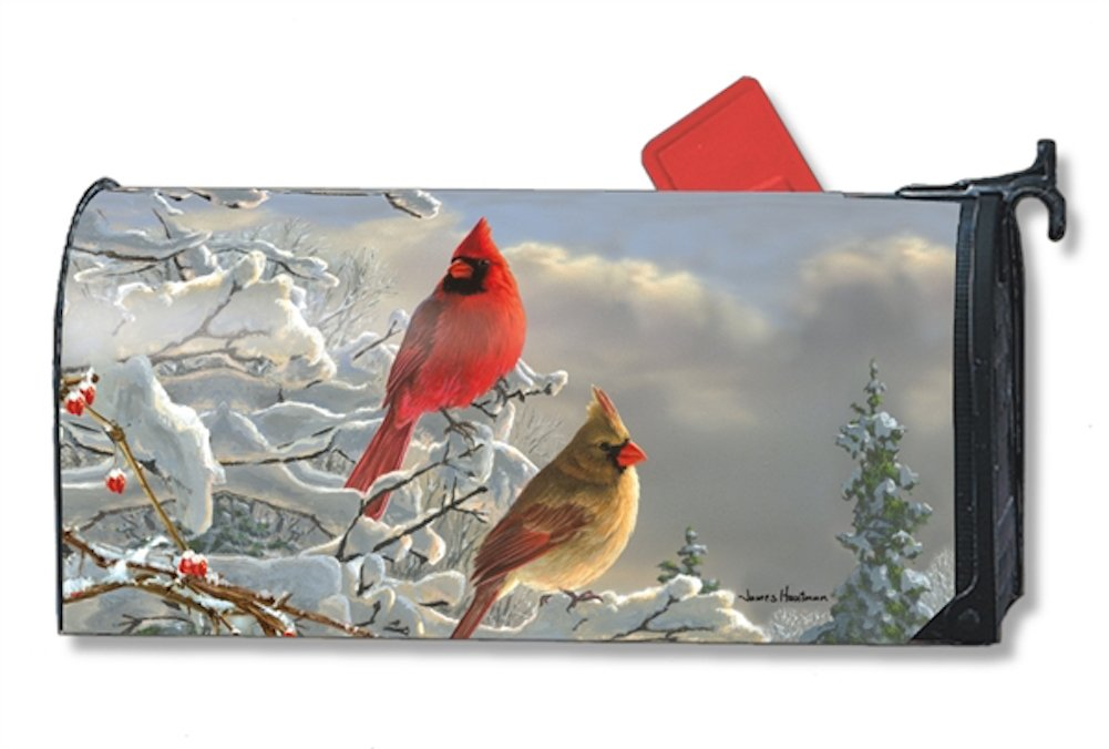 MailWraps Winter Cardinals Mailbox Cover #01267