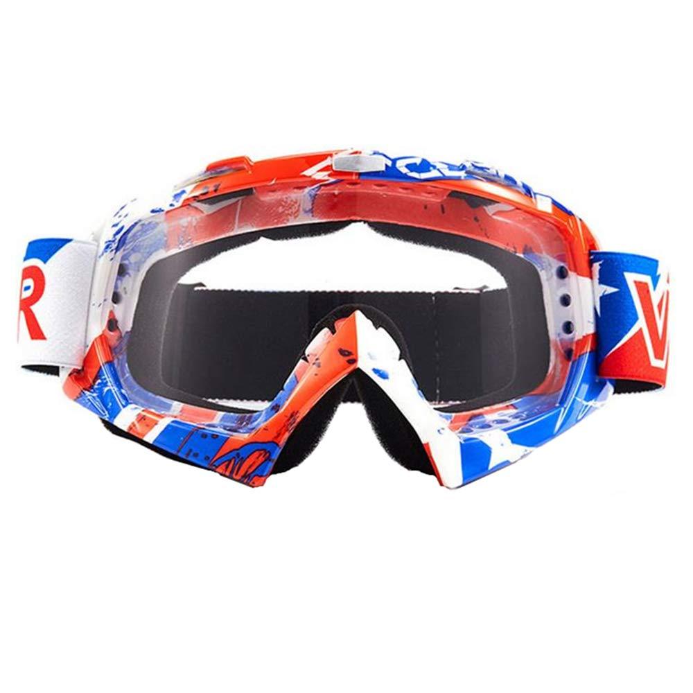 logas Off-Road-Motorrad-Schutzbrillen windundurchl/ässige ATV Bike Racing Motocross Brillen Anti-UV