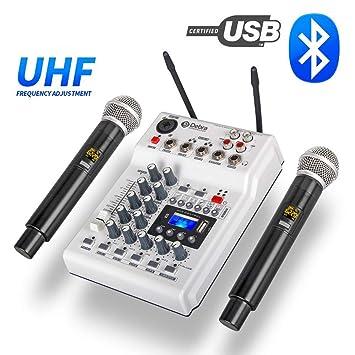 JASZW - Mezclador de Consola de DJ con Tarjeta de Sonido ...