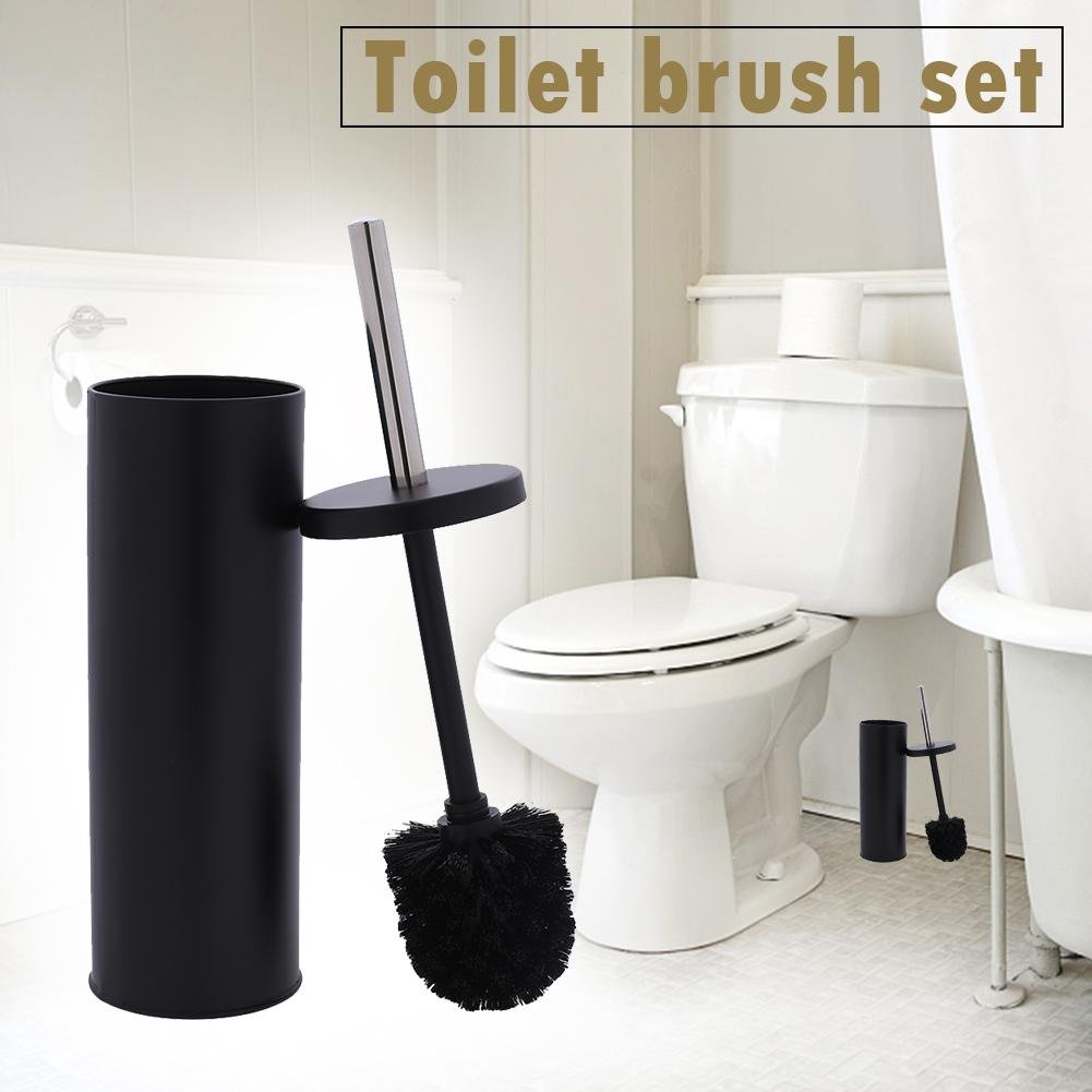 Vipeco New Toilet Brush Holder Home Bathroom Cleaning Stand Free Standing Set Kit
