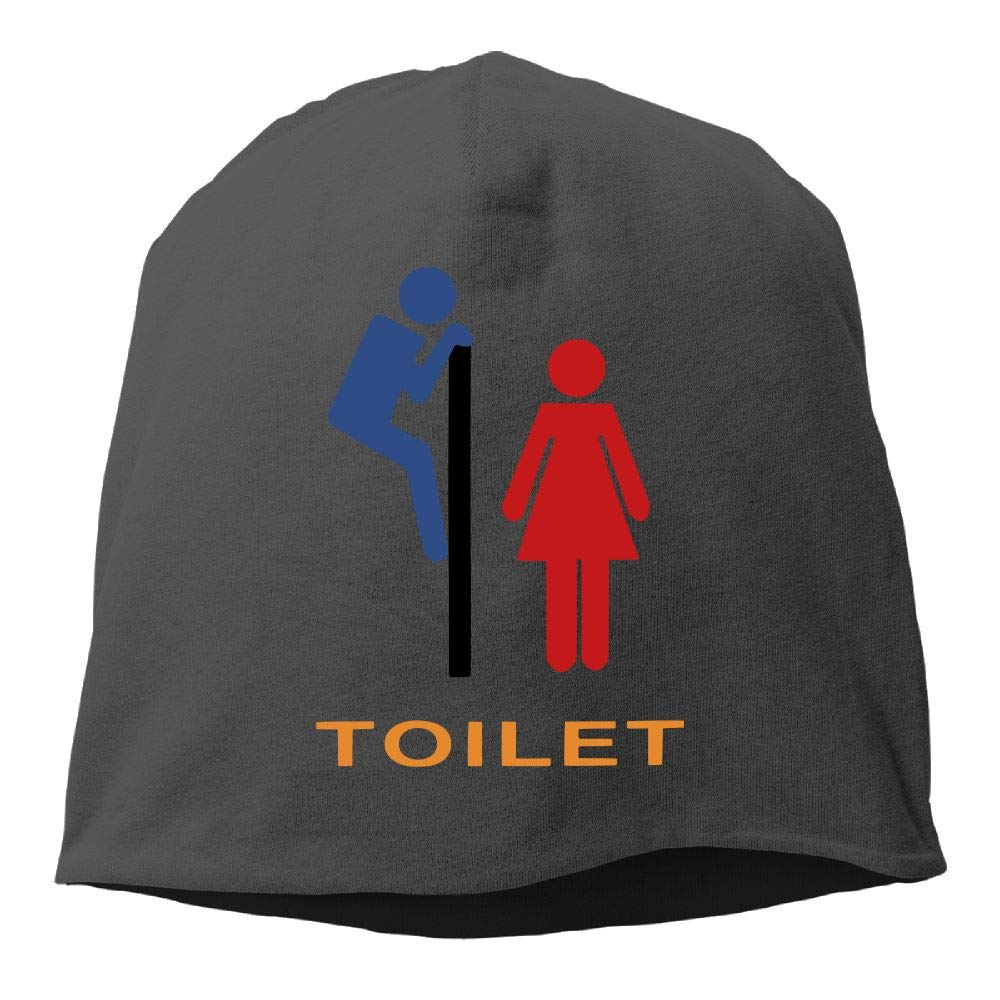 Janeither Headscarf Toilet Funny Images Hip-Hop Knitted Hat for Mens Womens Fashion Beanie Cap