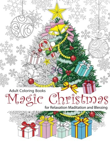 Adult Coloring Book: Magic Christmas