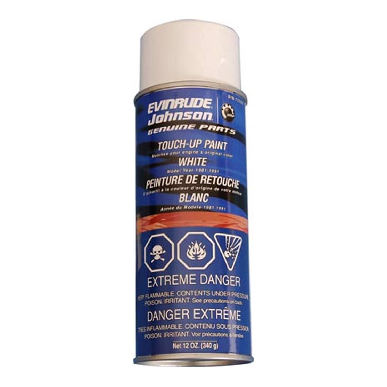 Johnson/Evinrude/OMC New OEM White Acrylic Spray Paint, 12oz 0777171, 777171