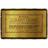 Willy Wonka And The Chocolate Factory I Got A Golden Ticket-Woven Throw-White-48X80