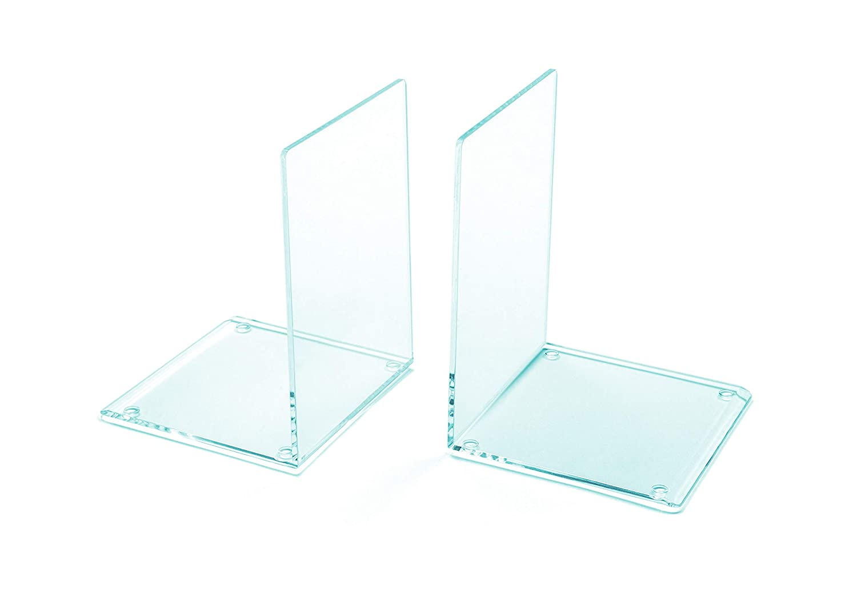 Osco abe1-gl effetto vetro acrilico fermalibri