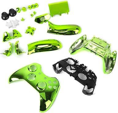Cáscara Funda Caso kit Repuestos Para Xbox One Controlador - Metal Verde: Amazon.es: Electrónica
