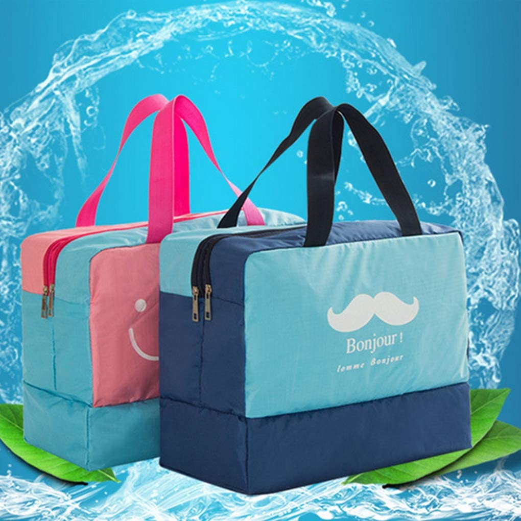Mufti-functional Durable Dry And Wet Separated Gym Duffle Bag Waterproof Portable Large Capacity Tote Handbag is Suitable for Travel Swimming Sport WishLotus Swimming Bag