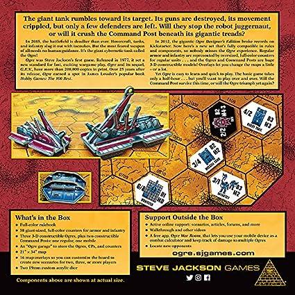 Steve Jackson Games sjg01315 – Ogre 6th Edition Juego de Cartas: Amazon.es: Juguetes y juegos