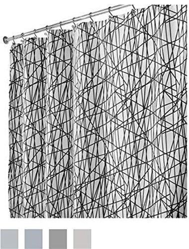 InterDesign Abstract Fabric Shower Curtain -  - shower-curtains, bathroom-linens, bathroom - 615V0Ri s0L -