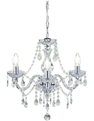 e5354025b88d Tuscany Elegant Chandelier Ceiling Light Acrylic Crystal Droplets with 3  lights ideal for Living Room