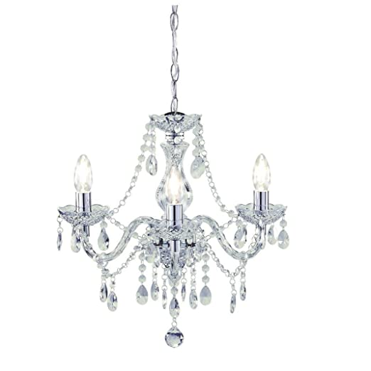 Tuscany 3 light ceiling chandelier acrylic droplets clear amazon tuscany 3 light ceiling chandelier acrylic droplets clear audiocablefo