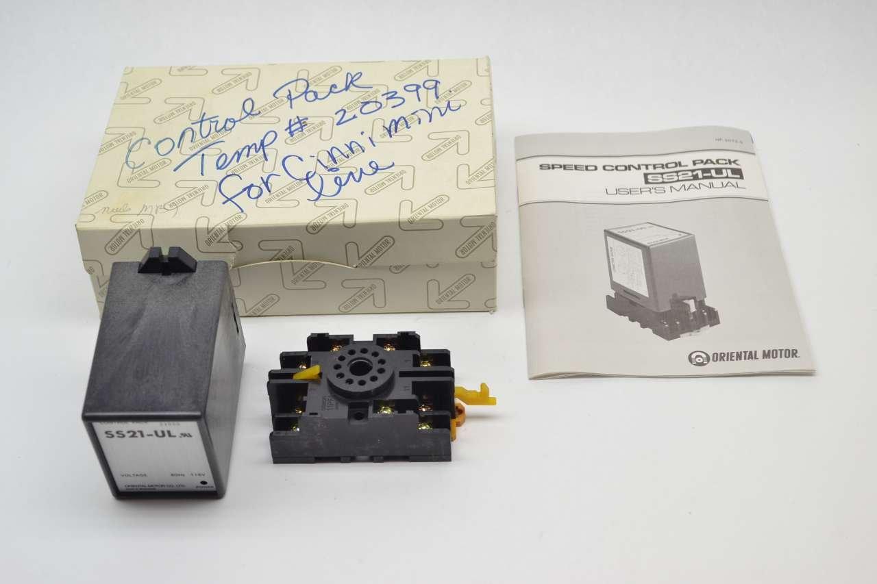 Lot of 2 Oriental Motor SS21-UL Speed Control Pack T14483 ...