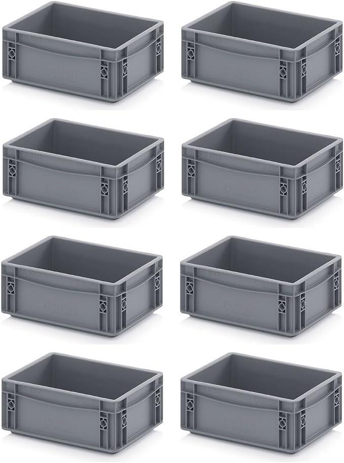 8 unidades, Euro Caja 30 x 20 x 12 gris Incluye ZOLLSTOCK ...