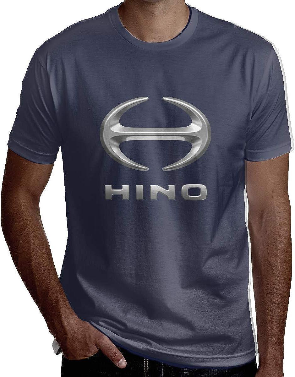 HaiguangZ Fashion Hino AutoLogo Tshirts for Men Black