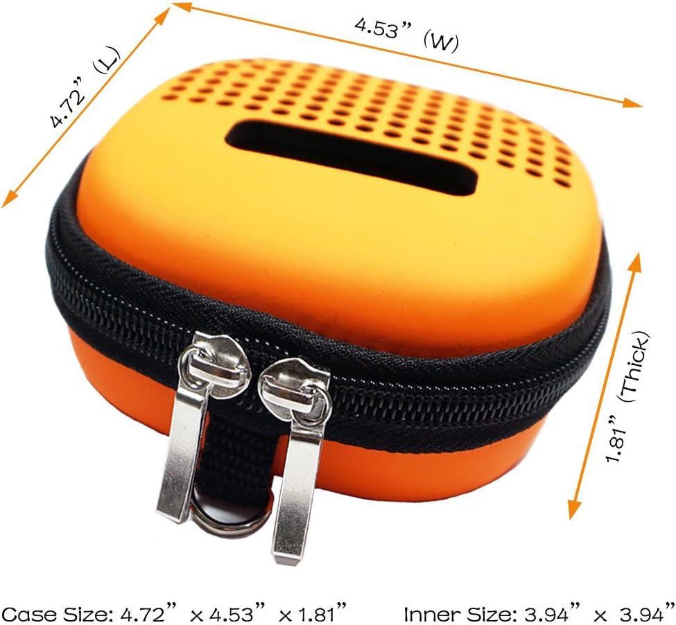 for Bose SoundLink Micro Bluetooth Speaker Minchen Portable Hard EVA Case Cover for Speaker with Blue Carabiner Portable Speaker Protective Case Black