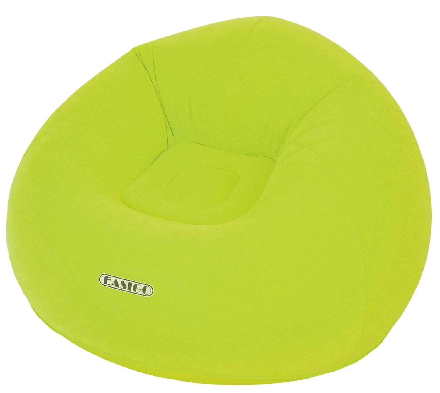 Pool Central Round Lime Green Easigo Inflatable Single Person Sofa, 41''