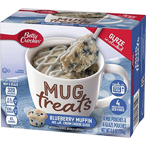 Betty Crocker Baking Mug Treats Blueberry Muffin Mix with Cream Cheese Glaze, 11.8 - Cheese Muffin