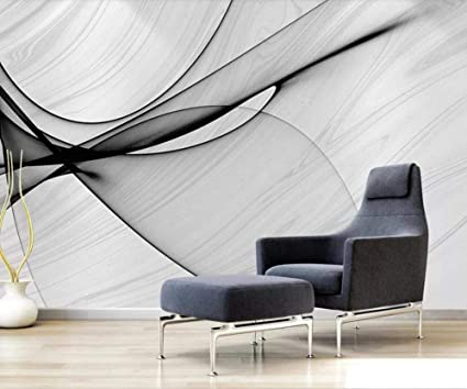 Papier Peint Panoramique 3d Tapisserie Photo Murales Peinture Murale Interieur Intisse Poster Geant Decor Mural Moderne 200x140cm Art Abstrait Marbre Noir Blanc Amazon Fr Bricolage