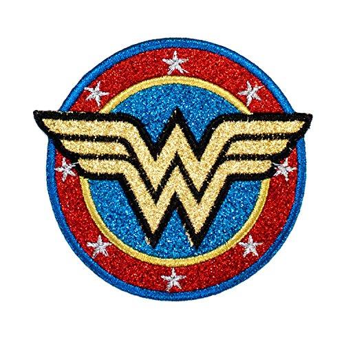 Application DC Comics Originals Wonder Woman Shield with Gold Glitter - Wonder Patches Woman