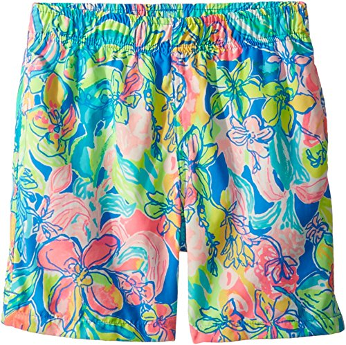 Lilly Green (Lilly Pulitzer Kids Baby Boy's Capri Trunks (Toddler/Little Kids/Big Kids) Bennett Blue/Surf Gypsea Swim X-Small)