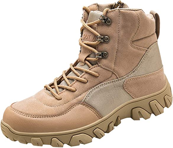 VonVonCo Work Shoes for Men Boots Outdoor Wear Non Slip Shoes Running Walking