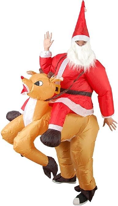 Amazon.com: Navidad inflable disfraz de alce de Navidad Papá ...