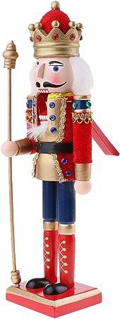 IPOTCH 30cm Casse-Noisette en Bois Figurine Peint /à La Main Objets de d/écoration Embellissement pour Maison