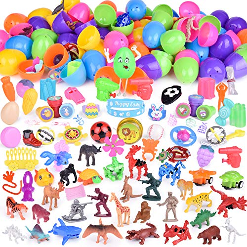 100PCs Egg Toys Filled with Small Toys for Surprised Eggs, Kids Party Favors, Prizes]()