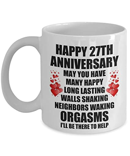 Image Unavailable. Image not available for. Color 27th 27 Year Wedding Anniversary Gift ...  sc 1 st  Amazon.com & Amazon.com: 27th 27 Year Wedding Anniversary Gift For Him Husband ...