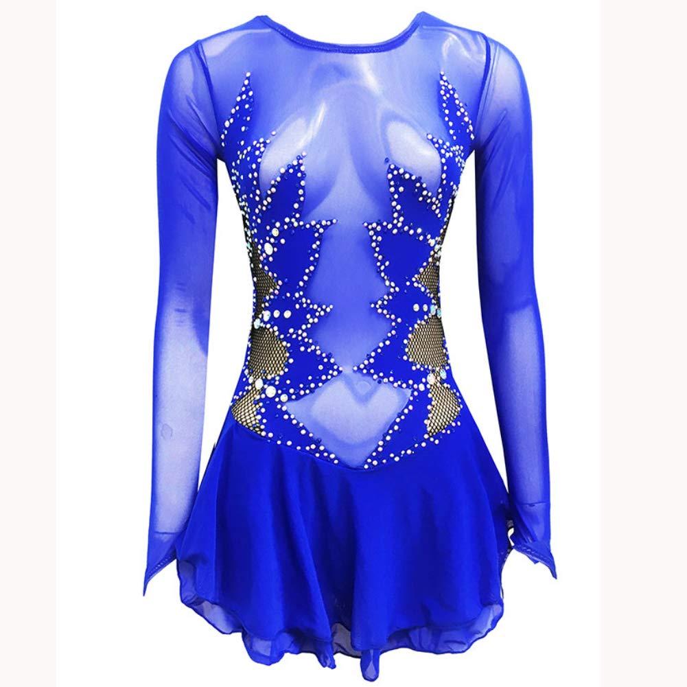 Vestido de patinaje artístico Royal Blue para mujer y niña ...