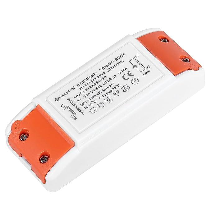 20 opinioni per YUNLIGHTS LED Trasformatore Driver 70W AC 220-240V a AC 12V 6A per Lampade