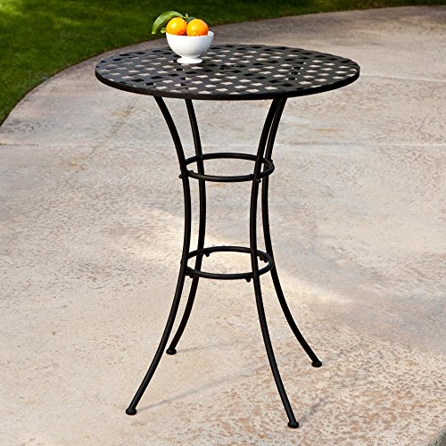 Belham Living Capri Wrought Iron Bar Height Bistro Table by Woodard (Bench Iron Sale For Wrought)