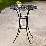 Amazon.com: Bistro Tables: Patio, Lawn & Garden on Belham Living Capri Wrought Iron Outdoor Bistro Set By Woodard id=80740