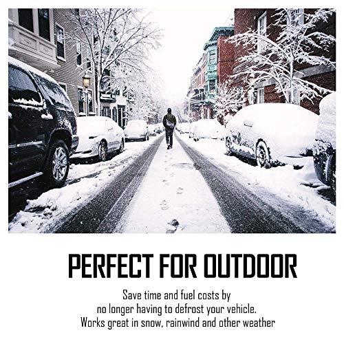 Huahua Protezione Parabrezza,Copertura Parabrezza Auto Invernale Anti-Gelo,Anti-Neve Anti UV Impermeabile,per La Maggior Parte dei Veicoli(215 X 125 Cm)