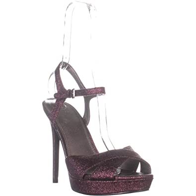 GUESS Womens Jordie Metallic Glitter Dress Sandals
