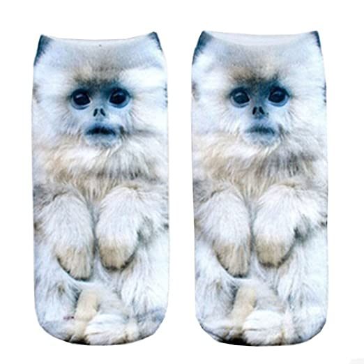 CHIC Funny Sock Dog CHIC Funny Cartoon Animal Print For Woman Man Boy Girl Free Size