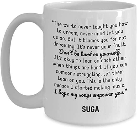 com bts coffee mug suga min yoongi quotes bangtan boys