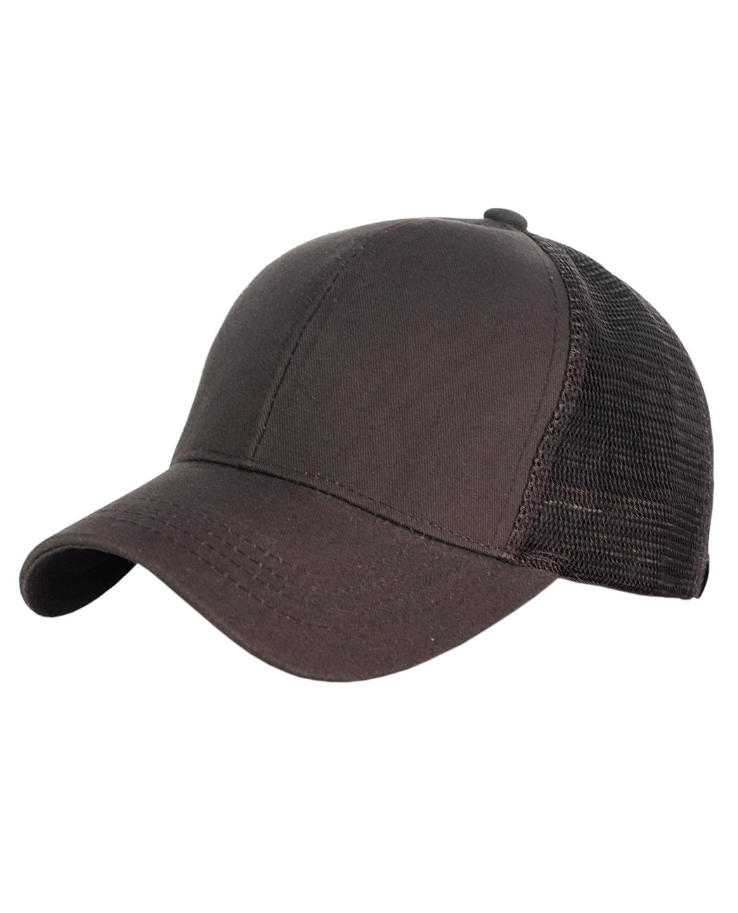 eae7b2361 C.C Ponycap Messy High Bun Ponytail Adjustable Mesh Trucker Baseball Cap Hat  Beige BT4-BG Novelty ...