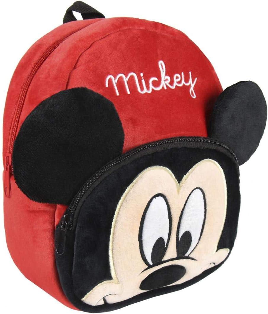 Artesania Cerda Personaje Mickey, Mochila Guardería, 22 cm, Rojo