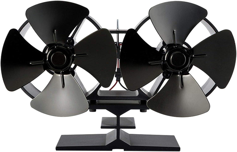 AFYH Ventilador de la Chimenea, Accesorios para chimeneas silenciosas Ventilador de Estufa de leña ecológico de 8 Palas, autogeneración de Alto Rendimiento para Ahorrar carbón
