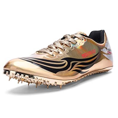 b3bd046d Ifrich Men's Women's Track & Field Shoes Spikes Running Training Sneakers  Lightweight Jumping Athletics Track Shoes with Spikes for Youth, Kids, Boys  ...