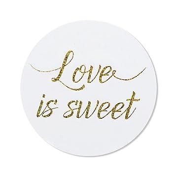 Amazon 80 2 Love Is Sweet Stickers Wedding Favor Labels