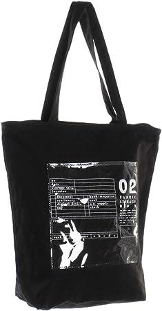 Hogar y Mas Bolsa Algodón con Cremallera, Gran Capacidad con Bolsillo Interno. Bolsas para Playa o Piscina 25X15X64 cm - Negro: Amazon.es: Hogar