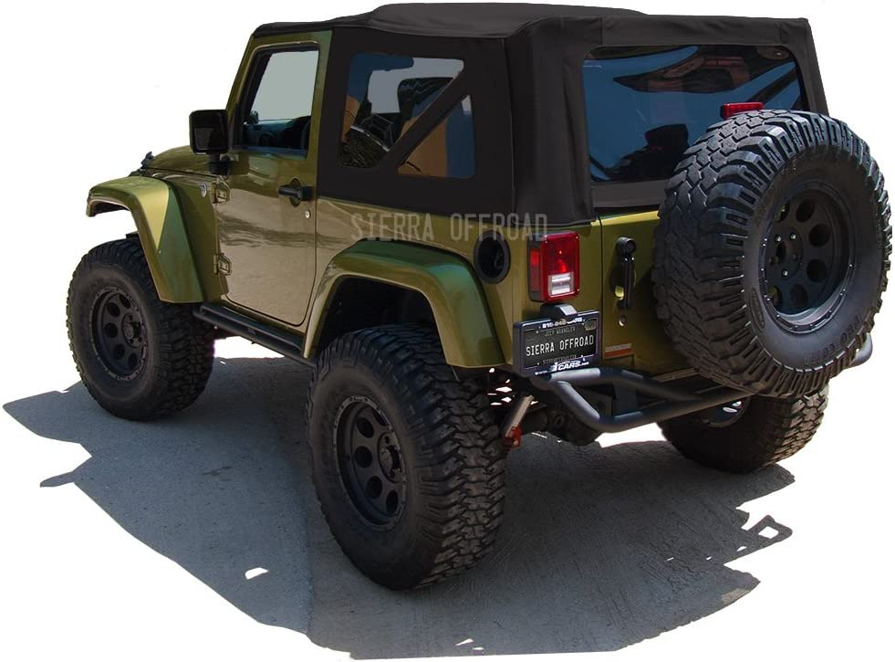 Black Twill Canvas Compatible with Jeep 2010-2018 Soft Top