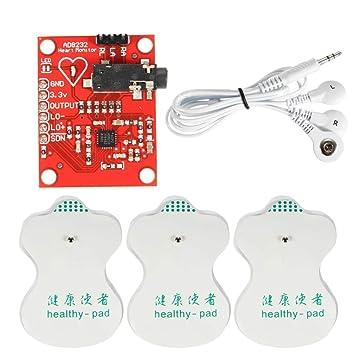 DC 3.3V AD8232 ECG Módulo de Medición del Kit de Monitor Cardíaco ...